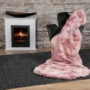 Kép 5/6 - Rumba 500 Pink rószaszín színű takaró / pléd